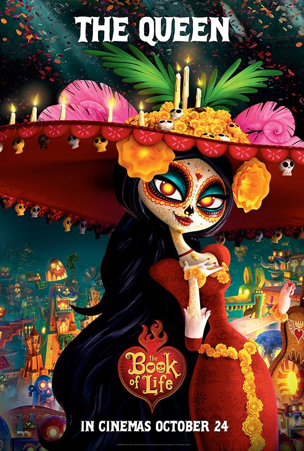 Book of life - La Muerte, made of sugar and all things good. Queen of the Land of the Remembered.