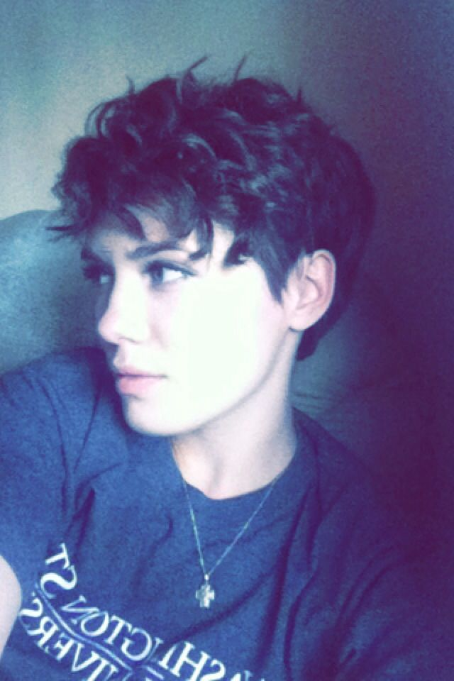 Short, curly, edgy hair                                                                                                                                                      More