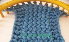 Loom Knit - Slipped Stitch Edge explained. From Loom Knitting Blog.