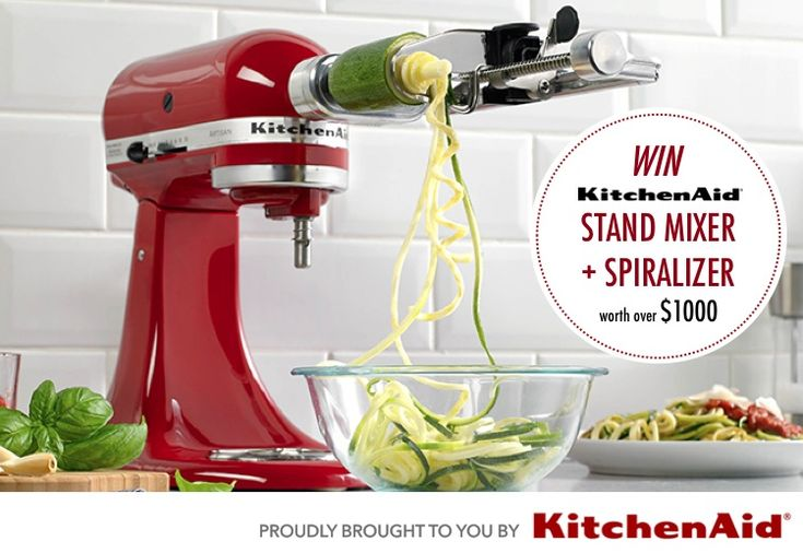 KitchenAid Stand Mixer with Spiralizer Attachment - inspiration pic :)