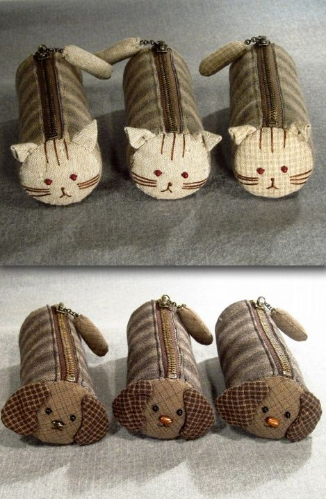 Cat & Dog Zipper Pouches: