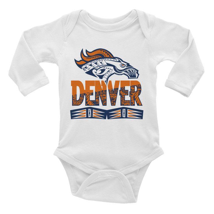 "Infant Onesies - ""Tribal Denver Broncos"""
