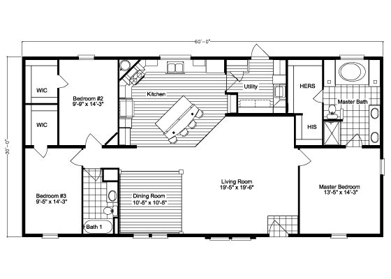 The Kennedy HST3606V Home Floor Plan   Manufactured and/or Modular Floor Plans available floor plan