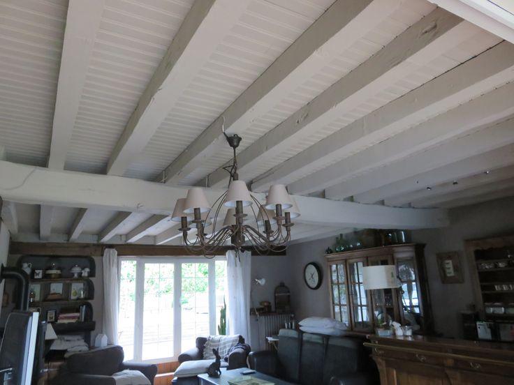Les 60 meilleures images propos de plafond poutres sur pinterest plafonds - Decoration poutres plafond ...