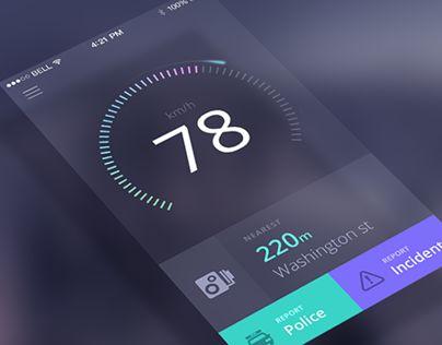 """다음 @Behance 프로젝트 확인: """"Speedometer"""" https://www.behance.net/gallery/16955945/Speedometer"""