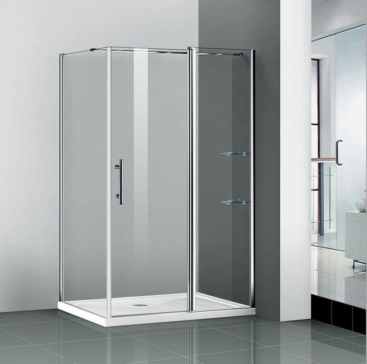 1200x700mm Walk In Shower Enclosure Pivot Door Frameless