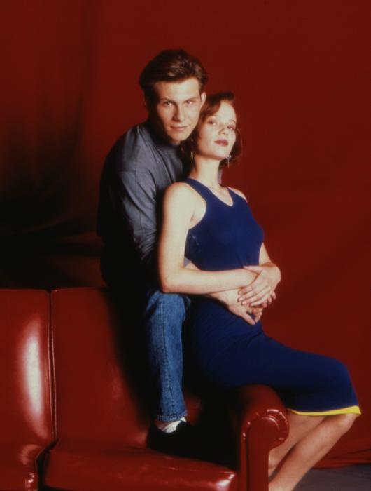 Former boyfriend and girlfriend couple: Samantha Mathis and Christian Slater
