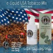 Smooth and full of flavor...Just like your favorite brand of cigarettes. Straight up American Cowboy tobacco flavor. USA Mix is a great tobacco e-liquid for anyone who is searching for a specific cowboy cigarette flavor. #50ml #eliquid #ecigarette #usamix