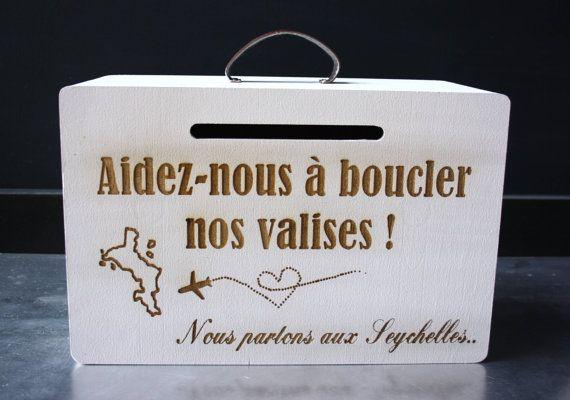 Urne de voyage personnalisée mariage urne boîte pour par Atelier58E