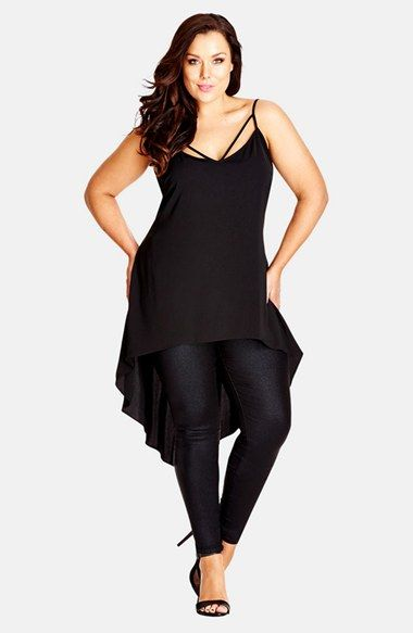 City Chic Strappy High/Low Camisole (Plus Size) available at #Nordstrom