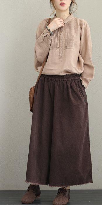 Women Casual Cotton Linen Shirt Fashion Tops For Fall Q1627