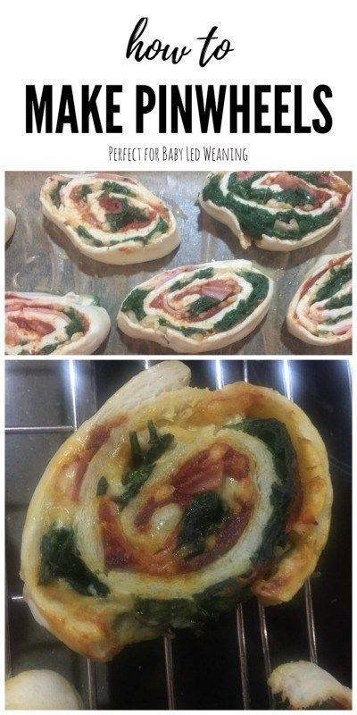 BLW Pinwheels. An easy recipe for pinwheels perfect for Baby Led Weaning I created these using spinach, ham and cheese, but any filling is possible.