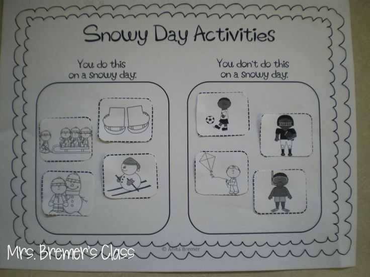 FREE The Snowy Day activity sort