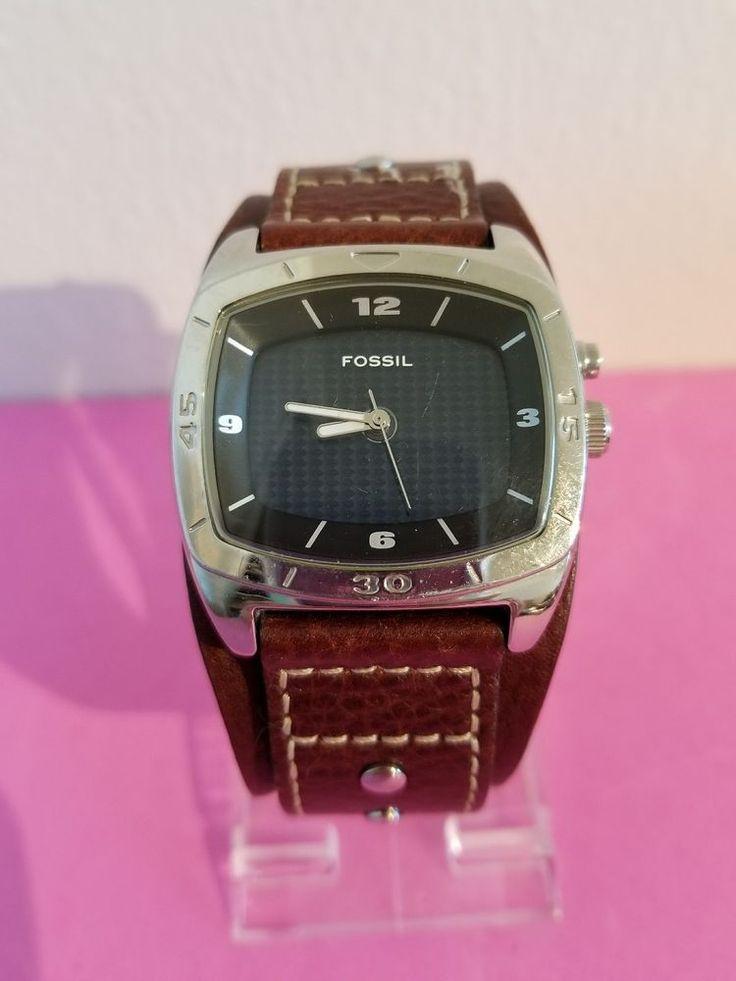 Men's Fossil AM-3695 BIG TIC Leather Watch 796483930223 | eBay