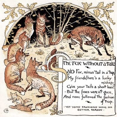 'The Baby's Own Aesop', 1887  by Aesop and Walter Crane,  Illustrated by Walter Crane: Aesop, Polar Bears, Bears Tales, Walter Cranes Illustrations, Illustrations Graph, Fantasy Illustration, 39 The Baby 39, Foxes Foxes Foxes, Illustrations Pictures