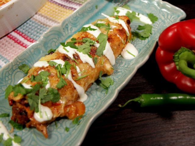 Kycklingenchiladas (kock Lisa Lemke)