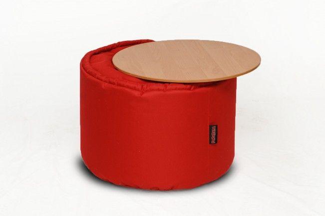 Столик КРУГ – гармоничная пара к любому креслу или дивану. Во-первых, он эстетично впишется в интерьер, где уже есть кресло-мешок. Во-вторых, он правильной высоты, если вы сидите в бескаркасном кресле. С таким комплектом вам удобно будет и отдыхать, и кушать, и работать за ноутбуком, поставив рядом чашку чая. Эта модель состоит из съемной столешницы и пуфа, а потому вы можете использовать его и как табурет.