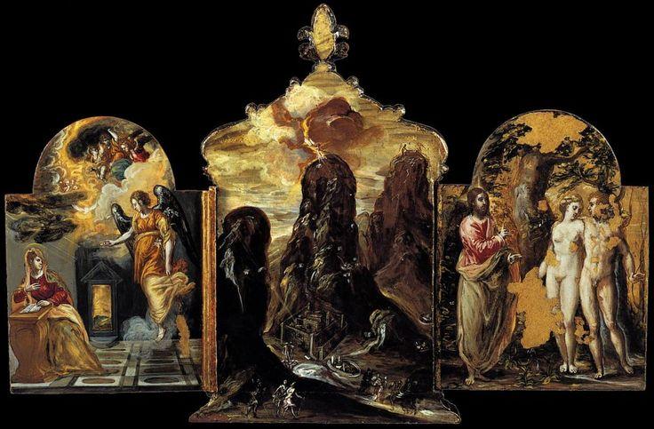 El Greco - Tríptico de Módena (1568) - Reverso