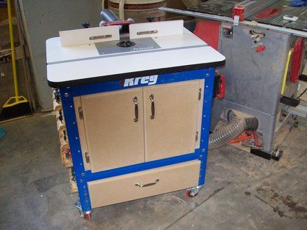 Enclosed Kreg Router Table