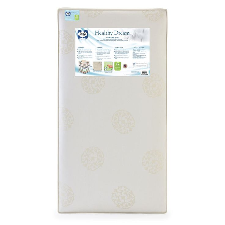 sealy healthy dream organic cotton cool gel 2 stage dual sided 204 crib and toddler mattress