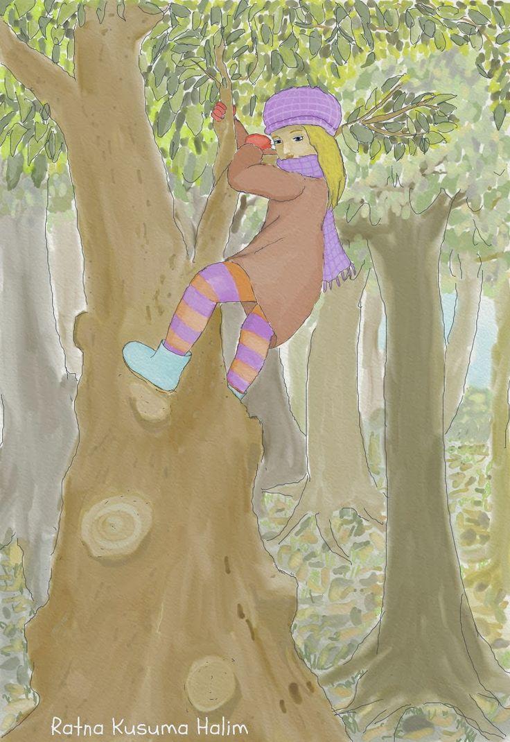 "My illustration for ""Fox Hunt"""