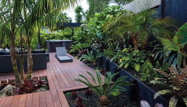 Small Garden in The Backyard Design Ideas zen resort style garden decking full