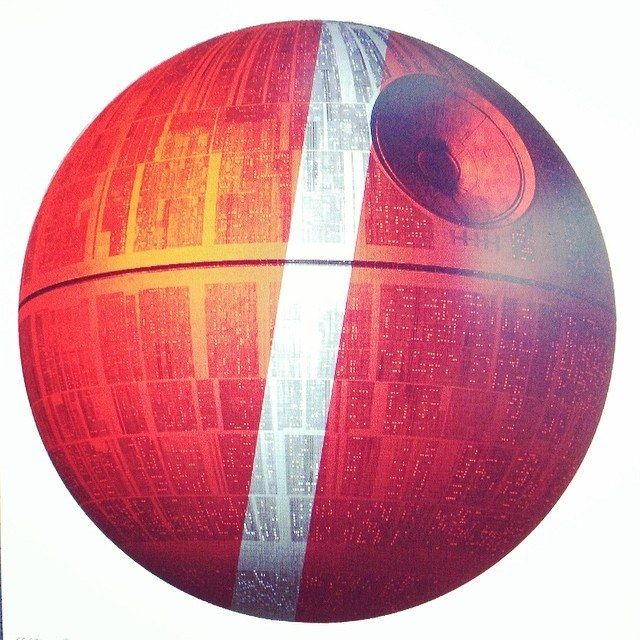 Kaffikaze Death Star logo Artwork by Harald Johnsen Vøyle