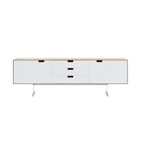 The #Simplon #Cabinet was #designed by #english #designer #JasperMorrison in #2003. This useful #sideboard contains 3 drawers and cupboards providing ideal #storage for your #entertainment system or #loungeroom.  Manufactured by #Cappellini.