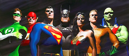 The Original Seven - Alex Ross - World-Wide-Art.com - $2200.00 #AlexRoss #Batman #Superman