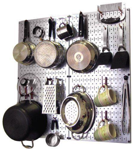 Image result for kitchen silver peg board