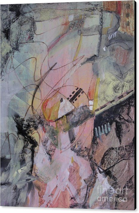 Abstract Canvas Print featuring the mixed media She Got Lost On Purpose by Robin Maria Pedrero