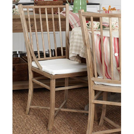 spindle back weathered oak dining chair u0026 pad