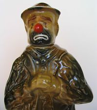 LARGE ORIGINAL EMMETT KELLY WORLD FAMOUS WILLIE THE CLOWN 1973 BEAM DECANTER