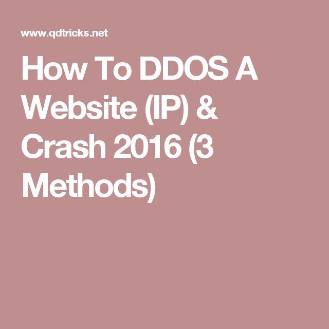 How To DDOS A Website (IP) & Crash 2016 (3 Methods)