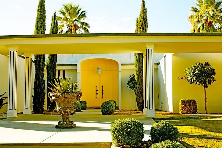 Palm Springs mid-century modern, in yellow
