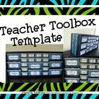 Here are turquoise and lime green zebra print labels for creating the Pinterest inspired teacher toolbox. They are to be used with the Stack-On 22 ...
