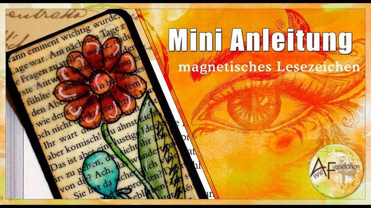 Mini Anleitung magnetisches Lesezeichen