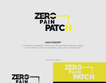 """Check out new work on my @Behance portfolio: """"Zero Pain Patch Logo"""" http://be.net/gallery/61125759/Zero-Pain-Patch-Logo"""