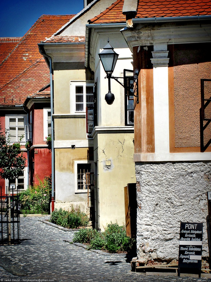 Beautiful street in Kőszeg, Hungary