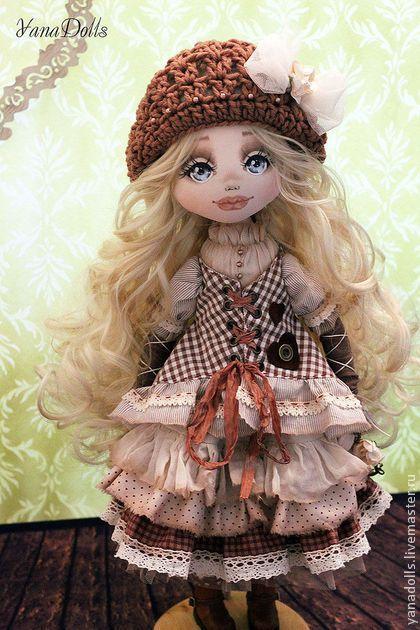 Sandra - коричневый,кукла,кукла ручной работы,кукла в подарок,кукла текстильная