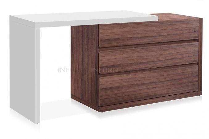 INFURN Home Berlin Adjustable Drawers-Table