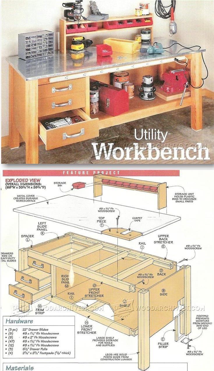25 best garage workbench plans ideas on pinterest wood work garage workbench plans workshop solutions projects tips and tricks woodarchivist com
