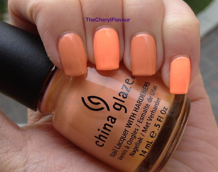China glaze son of a peach vs peachykeen | The Cheryl Flavour: China Glaze Neons On The Shore / Sunsational ...