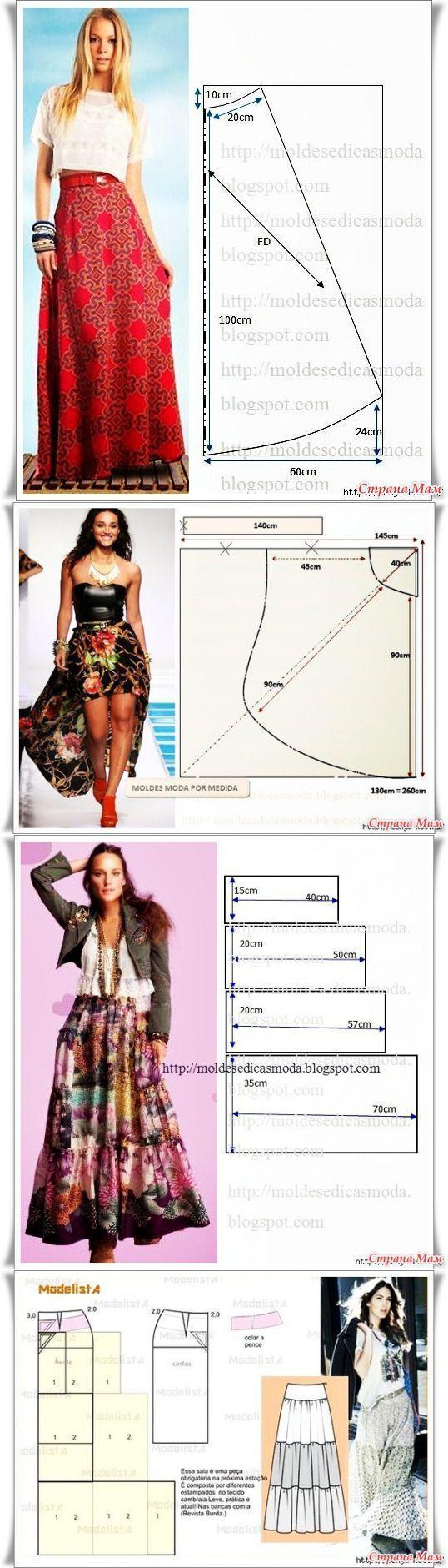 Длинные юбочки - Авторские уроки шитья... моделирование, крой, технолог   шитье   Постила