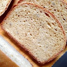 whole wheat bread from king arthur flour:  used rye and whole wheat + caraway and pecans.