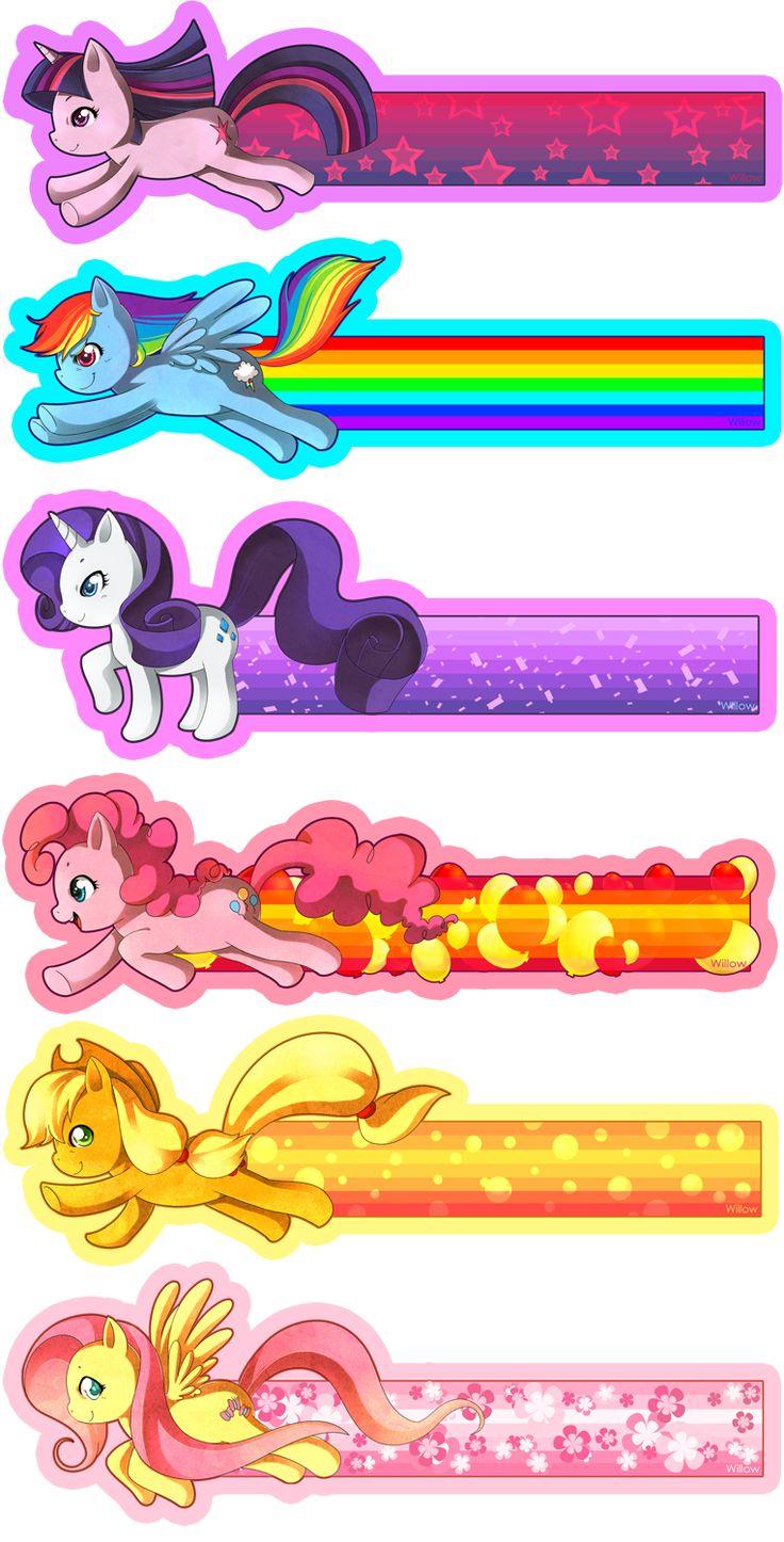 My Little Pony Bookmarks by Willow-San.deviantart.com on @deviantART