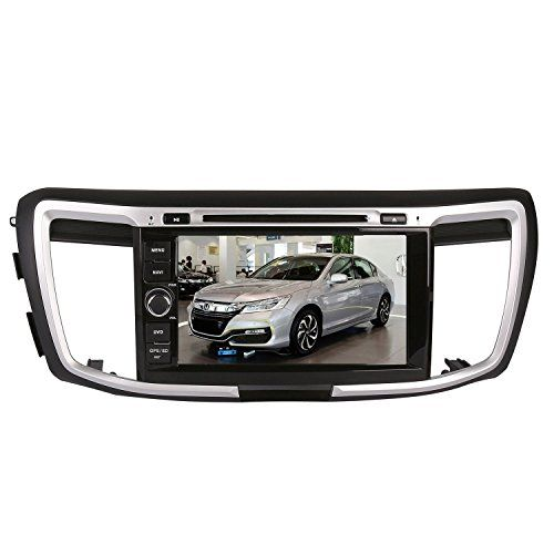 8 Inch Touchscreen Monitor Car GPS Navigation System for HONDA ACCORD 2013-2016 Car Stereo DVD Player w/ Radio RDS Bluetooth SWC AUX In Free Backup Rear View Camera Free USA Map by Indiny