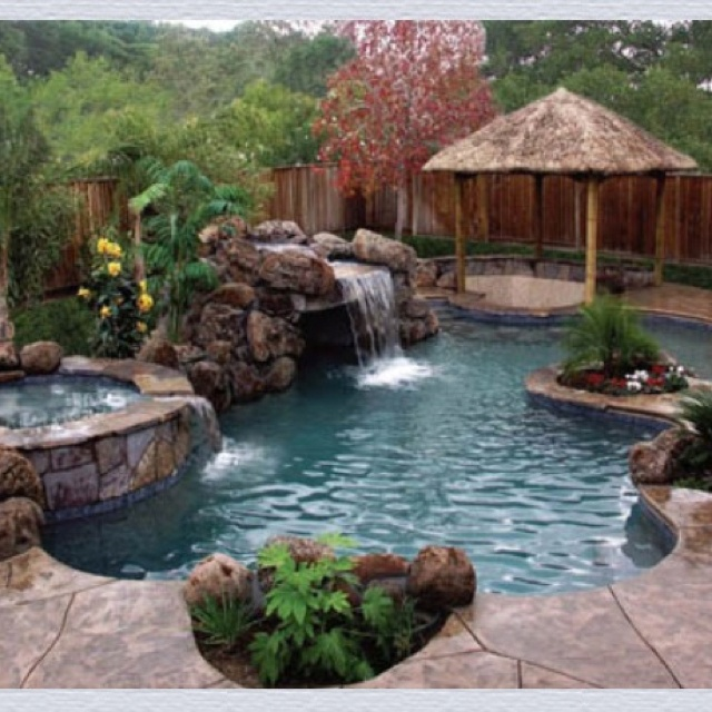 Jacuzzi In My Backyard : Outdoor bliss  id give my left arm for this in my backyard! Pool, hot