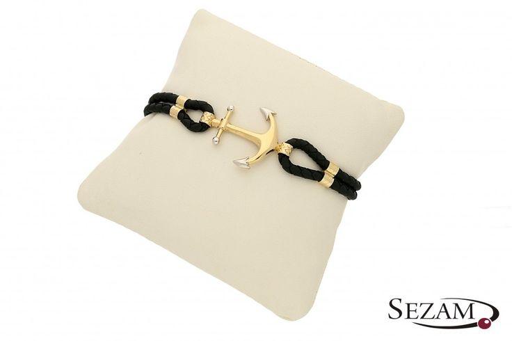 gold anchor bracalet 14K  http://www.jubilersezam.pl/sklep/produkty/bransoleta-zlota-z-kolekcji-fancy-numer-mi224bra-266144#variant=1041447