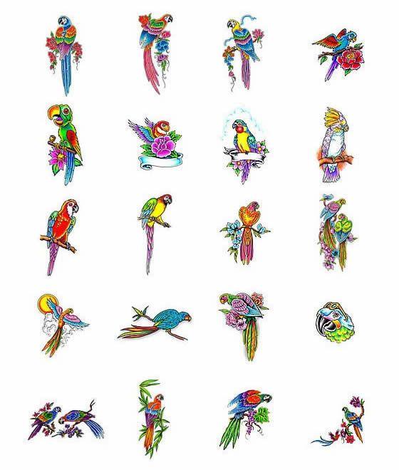 Bird Tattoos Designs Ideas And Meaning: Parrot Tattoo Design Ideas From Tattoo-Art.com
